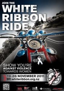 The White Ribbon Ride will travel across all of NZ