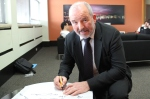 Political Reporter Barry Soper  signs the pledge