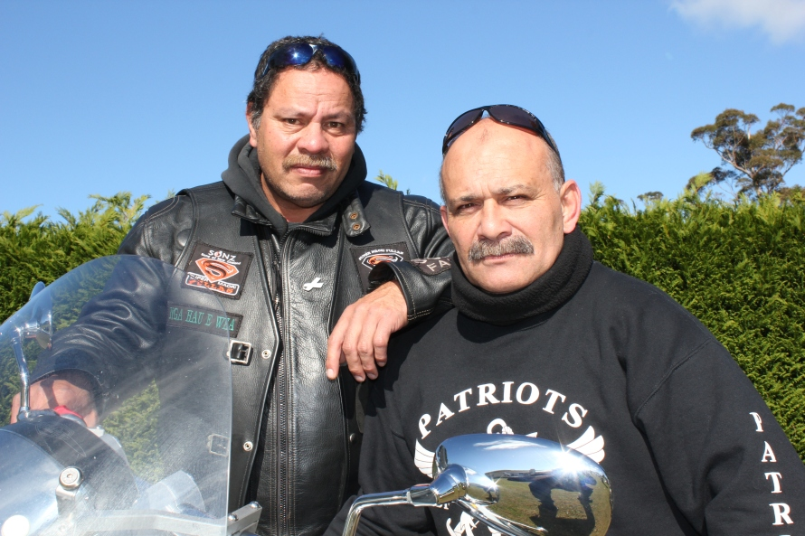 Ride leaders - Roger and Shane from the Super Maori Fullas and the Patriots