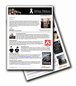 White Ribbon Newsletter September