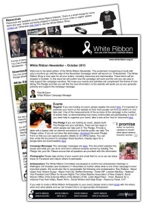 White Ribbon Newsletter October copy