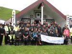 Group shot Winiata Marae