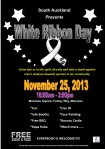 South Auckland White Ribbon Day 25 Novermber 2013 Poster