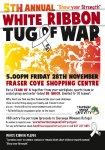 White Ribbon Tug of War in Tauranga