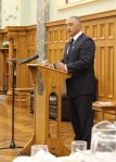 White Ribbon MPs breakfast - White Ribbon AmbassadorAlfred Ngaro