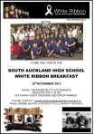 White Ribbon Poster-South Auckland Breakfast
