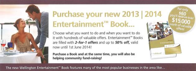 Entertainment Book header