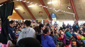 Crowd at the Whanau Fun Day