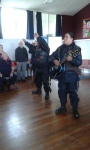 Eru and Tiki singing the White Ribbon Riders song Hokitika Primary. Eru provided actions kids joined in. Bit of rain today bit of sun - must be the coast! Great welcome wherever we go.