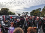 The riders arriving at Greymouth