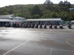 The Riders lined up at St Patricks in Greymouth.