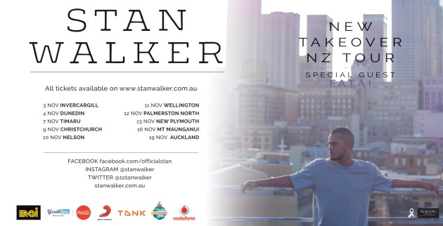 Stan Walker - New Takeover NZ Tour